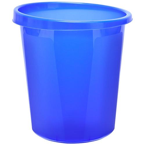 Корзина для бумаг 9 литров синяя тонированная