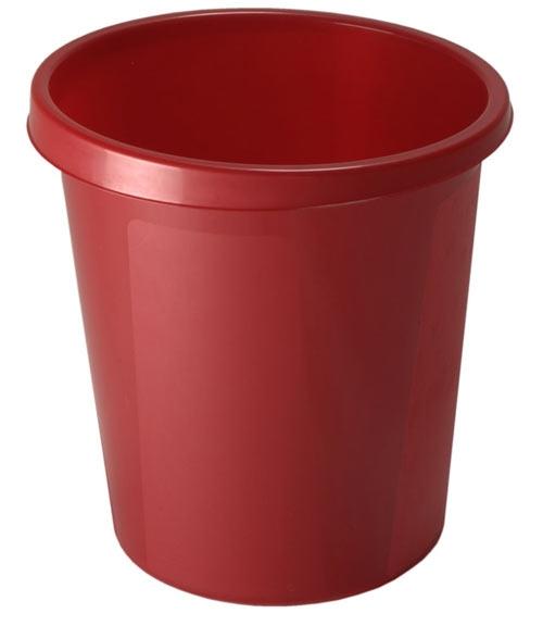 Корзина для бумаг 9 литров красная