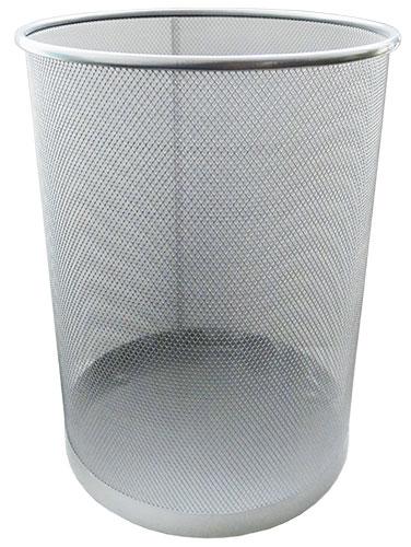 Корзина для бумаг металлическая Horer серебро арт. L5001