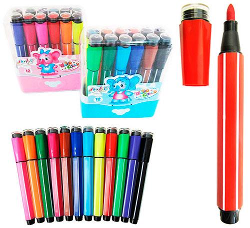 Фломастеры-штампы SkyGlory 12 цветов арт. 6881SG