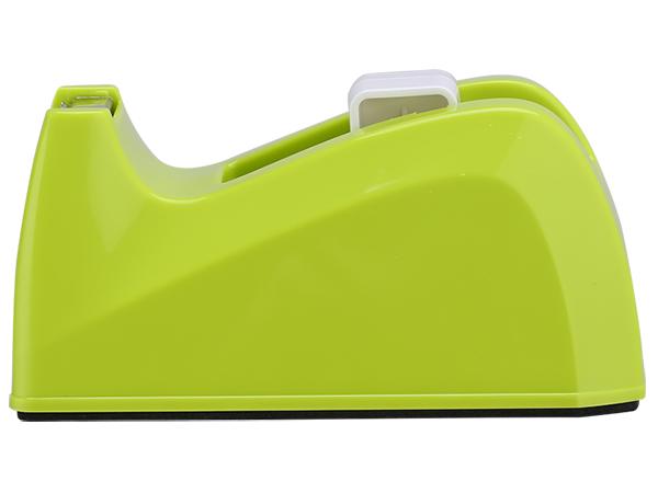 Диспенсер для клейкой ленты (скотча) настольный, зеленый