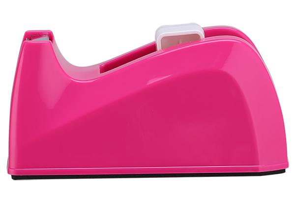 Диспенсер для клейкой ленты (скотча) настольный, розовый