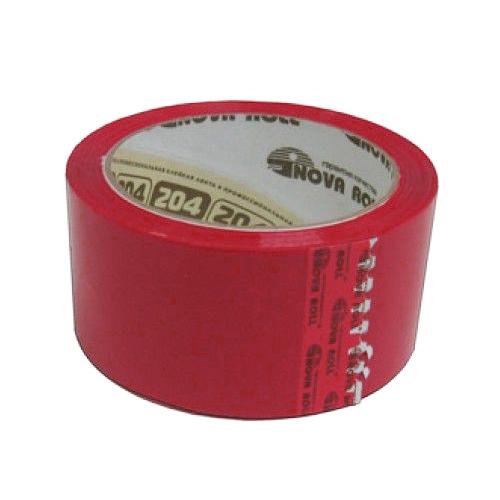 Клейкая лента (скотч) 48 мм х 66 м красная