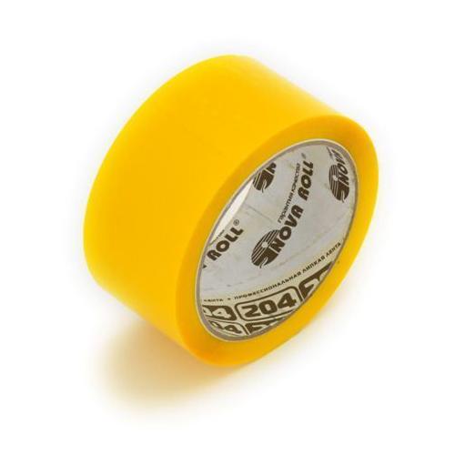 Клейкая лента (скотч) 48 мм х 66 м желтая