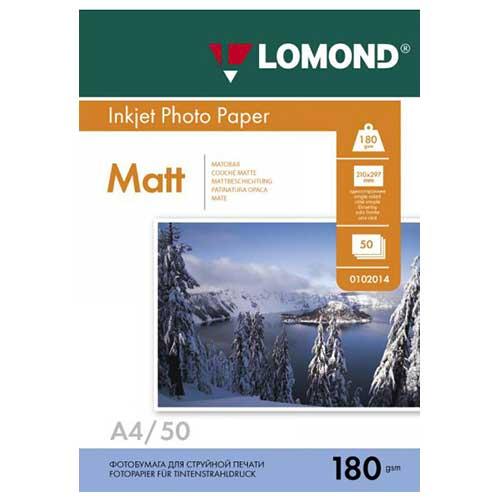 Фотобумага А4 50 листов 180г/м матовая односторонняя