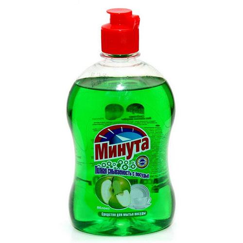 Средство для мытья посуды МИНУТА Яблоко 500г