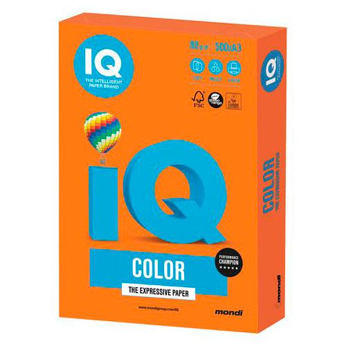 Бумага А4 500 листов 80 г/м оранжевый интенсив, IQ COLOR