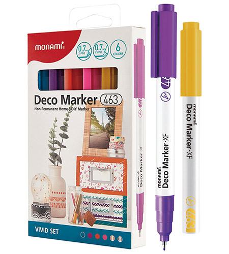 Набор DECO-маркеров MonAmi 6 цветов 0,7 мм VIVID арт. 463