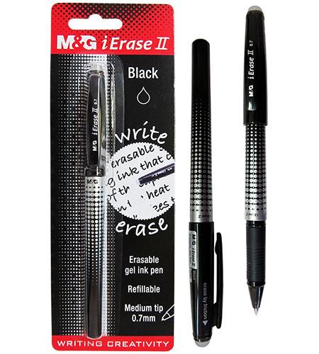 Ручка гелевая черная в блистере, Пиши-Стирай, M&G
