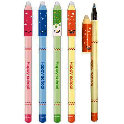 Ручка гелевая синяя, Пиши-Стирай, HAPPY SCHOOL