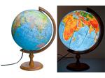 Глобусы физико-политические