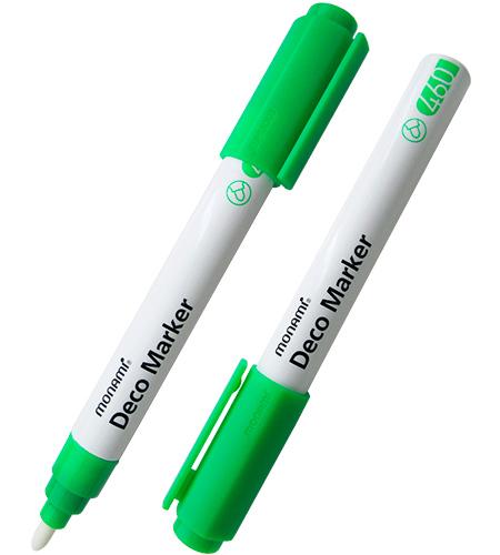 Маркер для декоративных работ 460, флуоресцентный зеленый